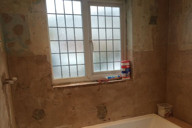 Bathroom in Orpington (During) | Quality Plumbing