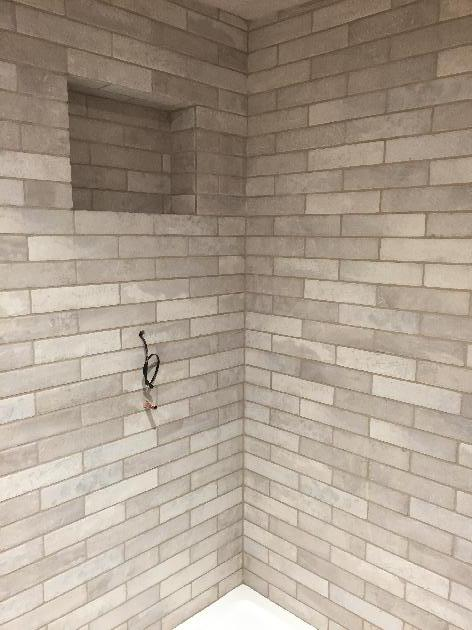 Shower Walls grouted